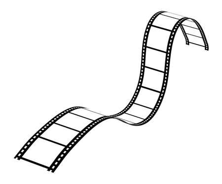 movie reel: Curvy Filmstrip
