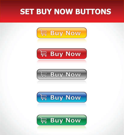 Set Buy Now Buttons Illustration