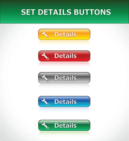 Set Details Buttons Stock Vector - 6653835