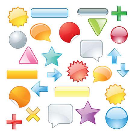 Set colored symbols Stock Vector - 6653853