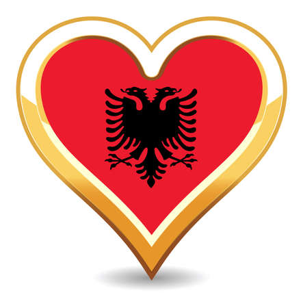 Heart Albania Flag Stock Vector - 6696532