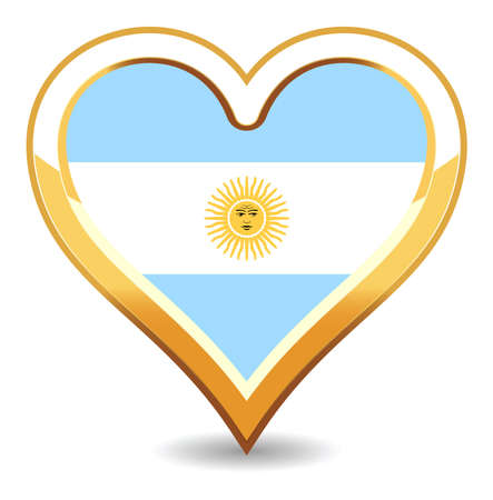 Heart Argentina Flag Stock Vector - 6696534