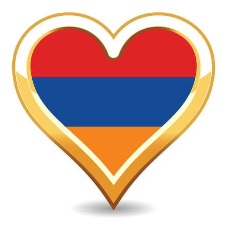 armenia: Heart Armenia Flag