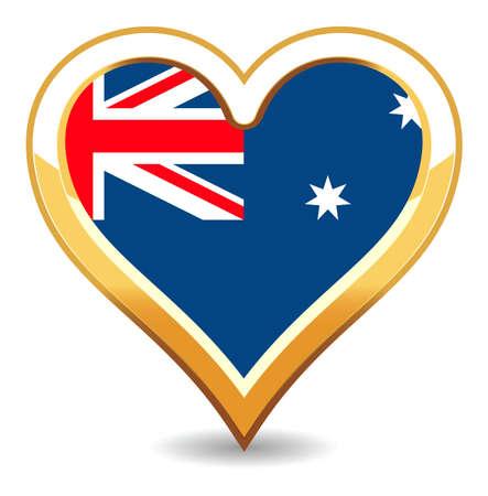 Heart Australia Flag Stock Vector - 6696516