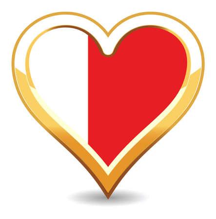 Heart Bahrain Flag Stock Vector - 6696292