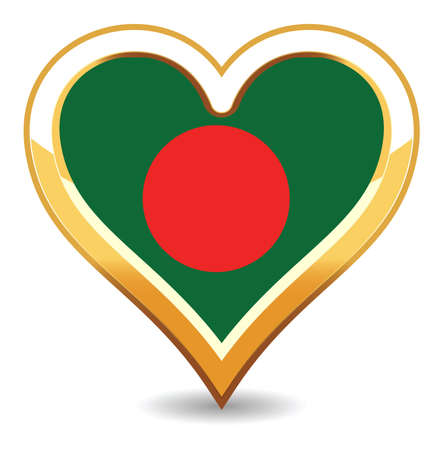 Heart Bangladesh  Flag Stock Vector - 6696410