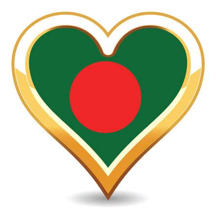 Heart Bangladesh  Flag Stock Vector - 6696410
