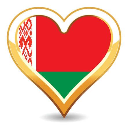 belarus: Heart Belarus Flag