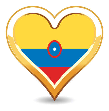 Heart Colombia Flag Stock Vector - 6696431
