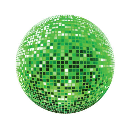 computer dancing: Disco sphere green