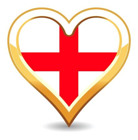 Heart England Flag Stock Vector - 6696407