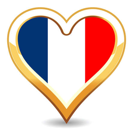 Heart France Flag Stock Vector - 6696294