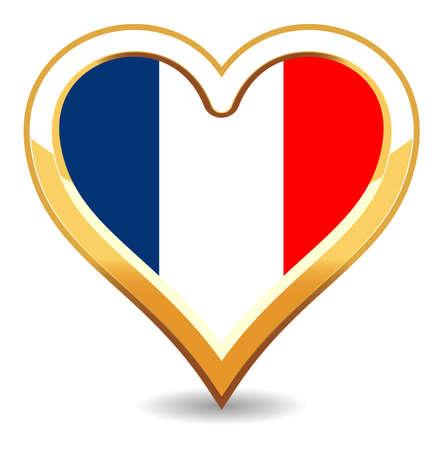 Heart France Flag Stock Vector - 6696294