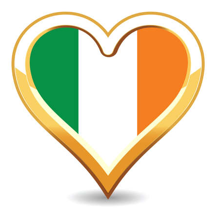 Heart Ireland Flag Stock Vector - 6696293