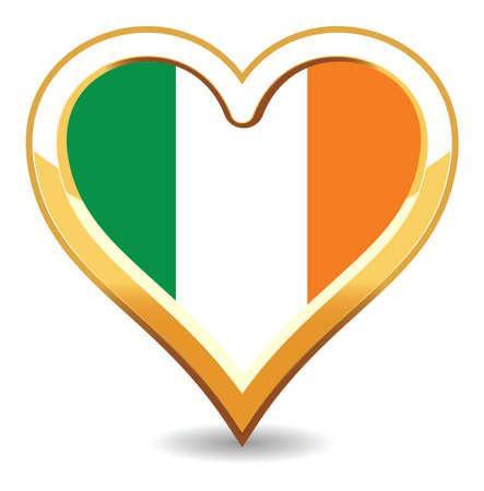 ireland flag: Heart Ireland Flag