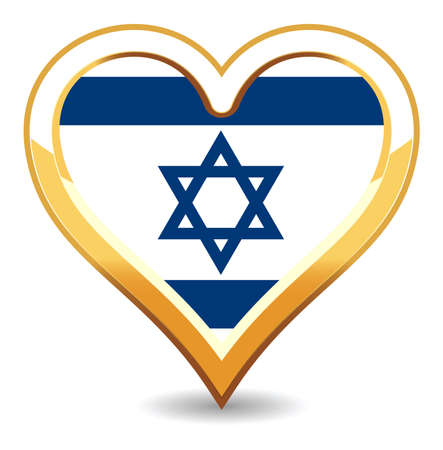 Heart Israel Flag