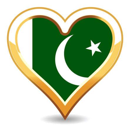 pakistan flag: Heart Pakistan Flag