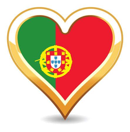 Heart Portugal Flag Stock Vector - 6696567