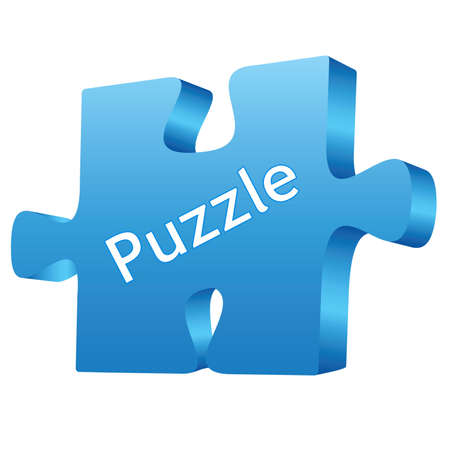 Puzzle blue Illustration