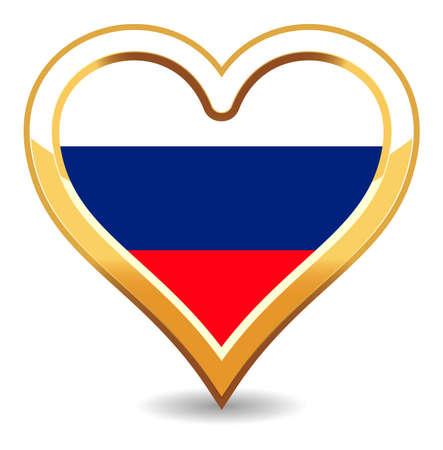 Heart Russia Flag Stock Vector - 6696404