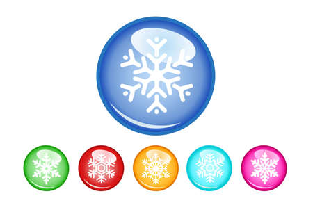 Buttons snowflakes Vector