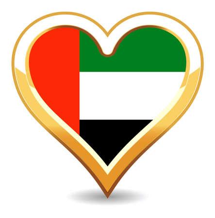 Bandera de Emiratos Árabes Unidos de corazón