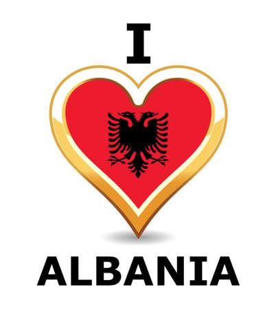 Heart Albania Flag Stock Vector - 6743244
