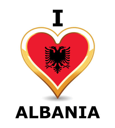 Heart Albania Flag Stock Vector - 6743244