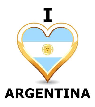 bandera argentina: Bandera de Argentina de coraz�n