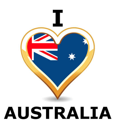 Heart Australia Flag Stock Vector - 6743205