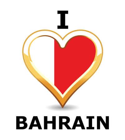 Heart Bahrain Flag Stock Vector - 6743200