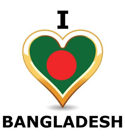 Heart Bangladesh  Flag Stock Vector - 6743202