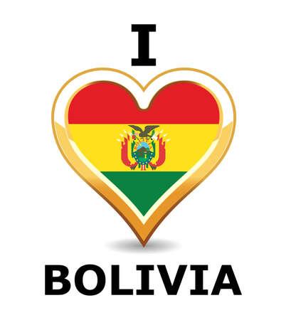 Heart Bolivia Flag