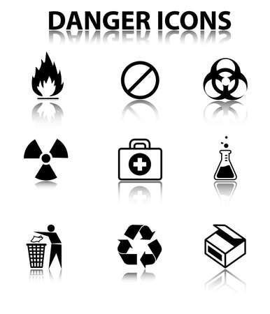 Danger icons Illustration
