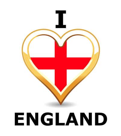I love England Stock Vector - 6743277