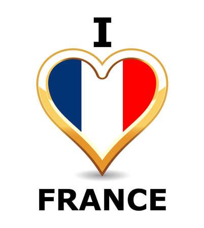 I love France Stock Vector - 6743276