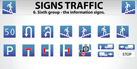 double lane: Signs Traffic Part Six
