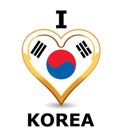 Heart Korea Flag Stock Vector - 6743255