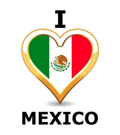 I love Mexico Stock Vector - 6743285