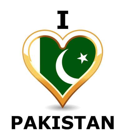 pakistan: Heart Pakistan Flag