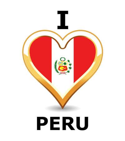 Heart Peru Flag
