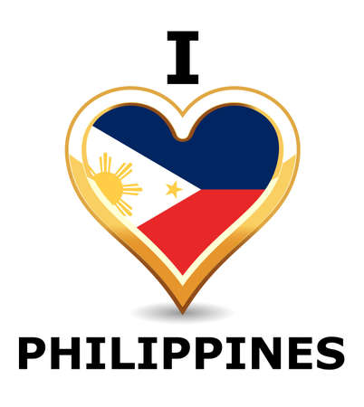 Heart Philippines Flag Stock Vector - 6743266
