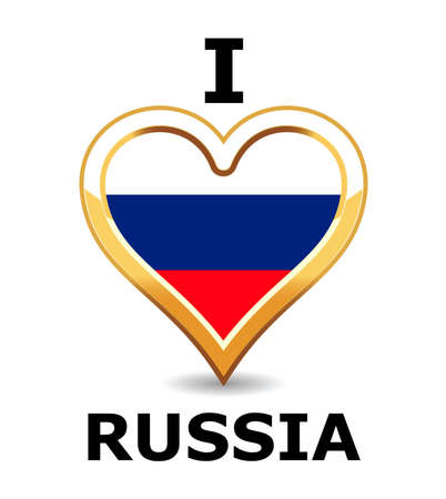 Heart Russia Flag Stock Vector - 6743279