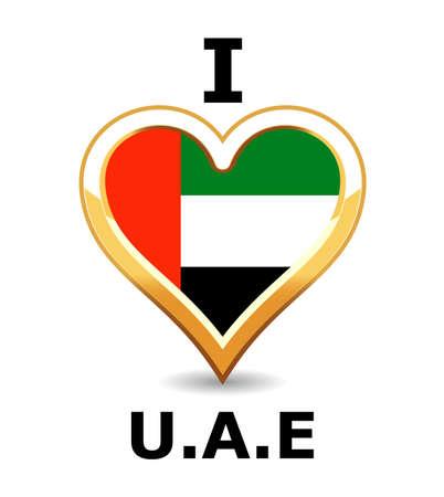 arab flags: Heart United Arab Emirates Flag