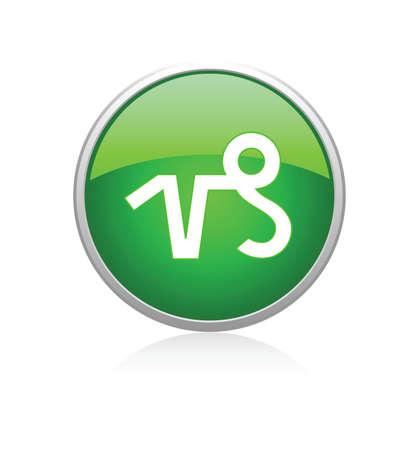 Capricorn green Vector