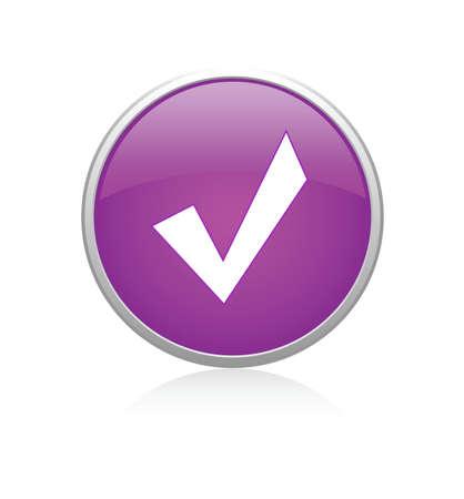 Accept violet Vector