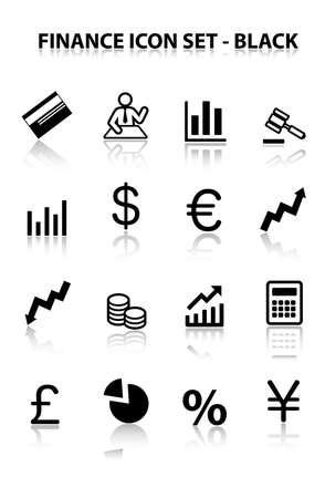 reflect: Reflect Finance Icon Set (Black)