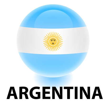 creativy: Orb Argentina Flag