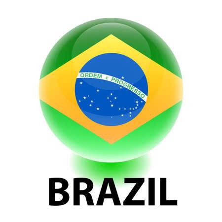 Orb Brazil Flag Vector