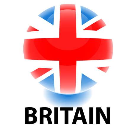 bandera de gran breta�a: Bandera de Gran Breta�a de orbe  Vectores